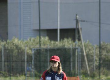 Paola con guantone al torneo di Marsiglia 2009