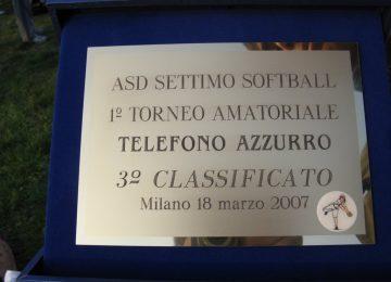 premio al torneo Telefono Azzurro